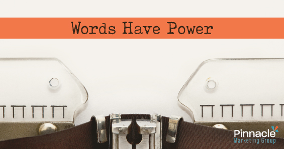 Words have power - blog header