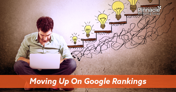 Moving up on Google rankings blog header