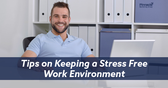 Tips on keeping a stress free work environment blog header