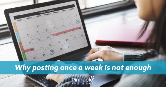 Why posting once a week is not enough blog header
