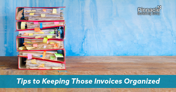 Tips to keeping those invoices organized blog header