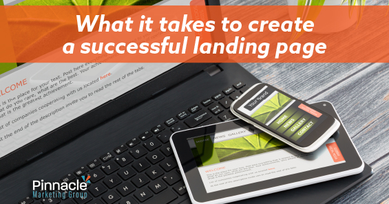 What it takes to create a successful landing page blog header
