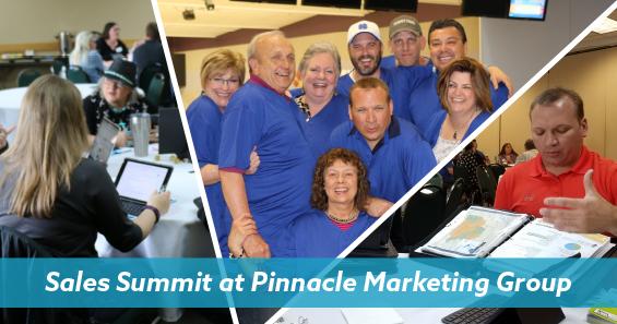 Sales summit at Pinnacle Marketing Group photos of employees