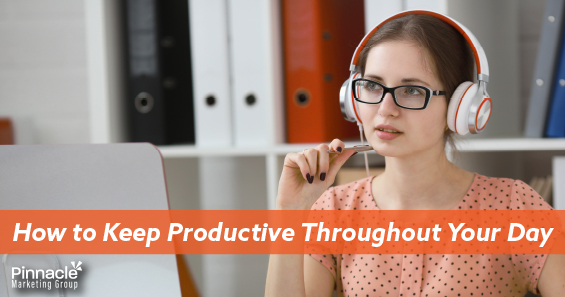 How to keep productive throughout your day blog header