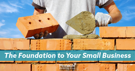 The foundation of your small business blog header