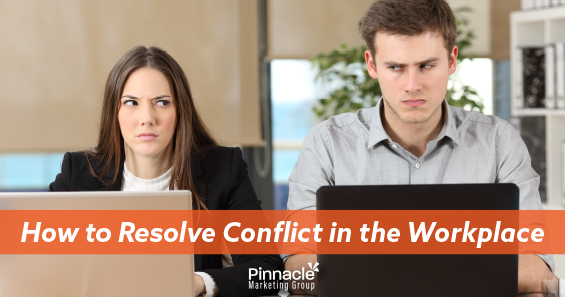 How to resolve conflict in the workplace blog header