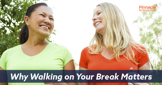 Why walking on your break matters blog header