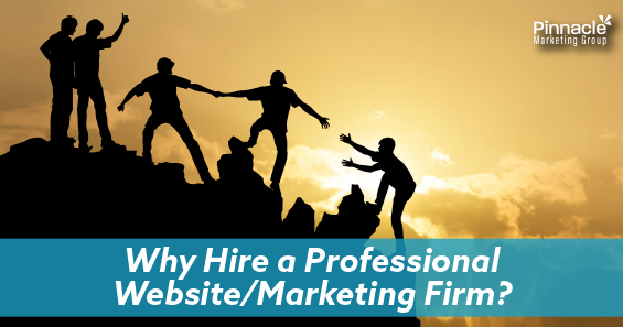 Why hire a professional website and marketing firm blog header