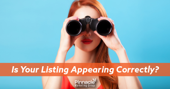 Is your listing appearing correctly blog header