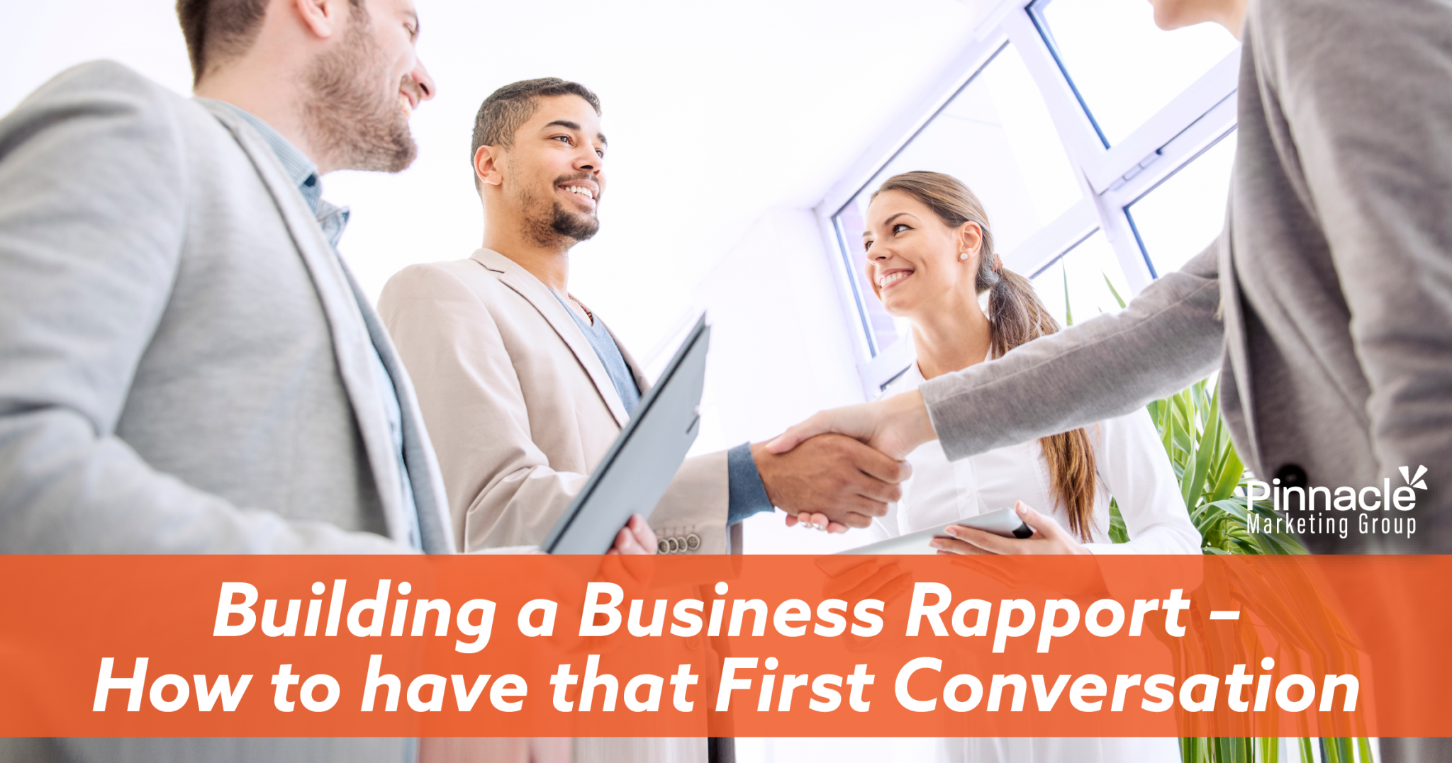 Building a business rapport - how to have that first conversation blog header