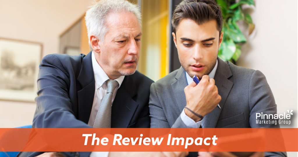 The review impact blog header