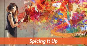 Spicing it up blog header