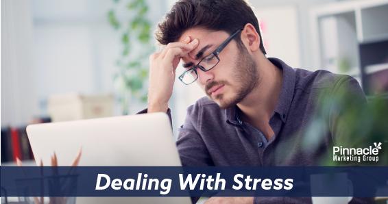 Dealing with stress blog header