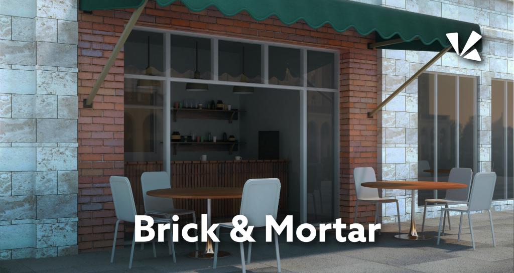 Brick and mortar blog header
