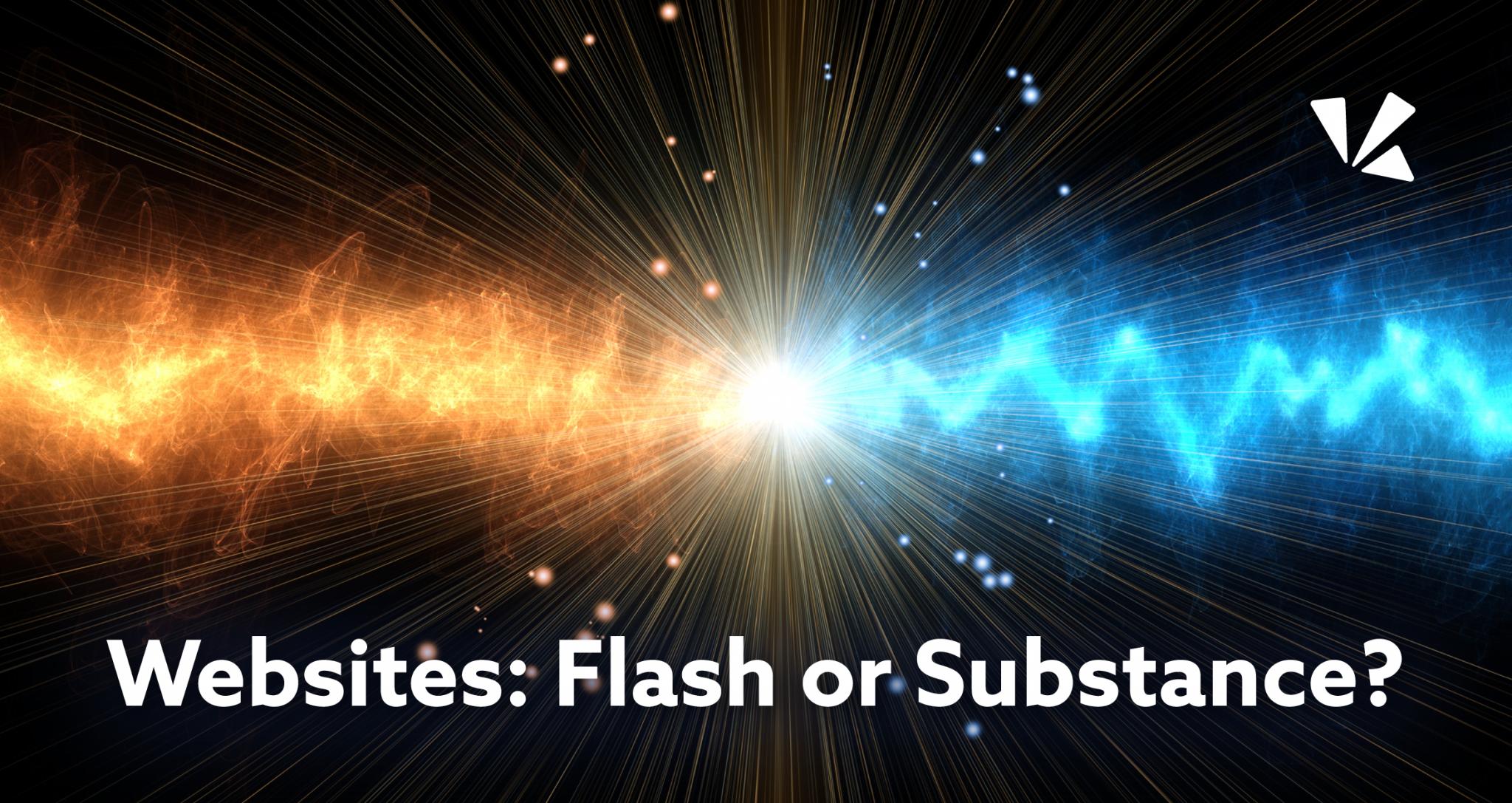 Websites: flash or substance blog header