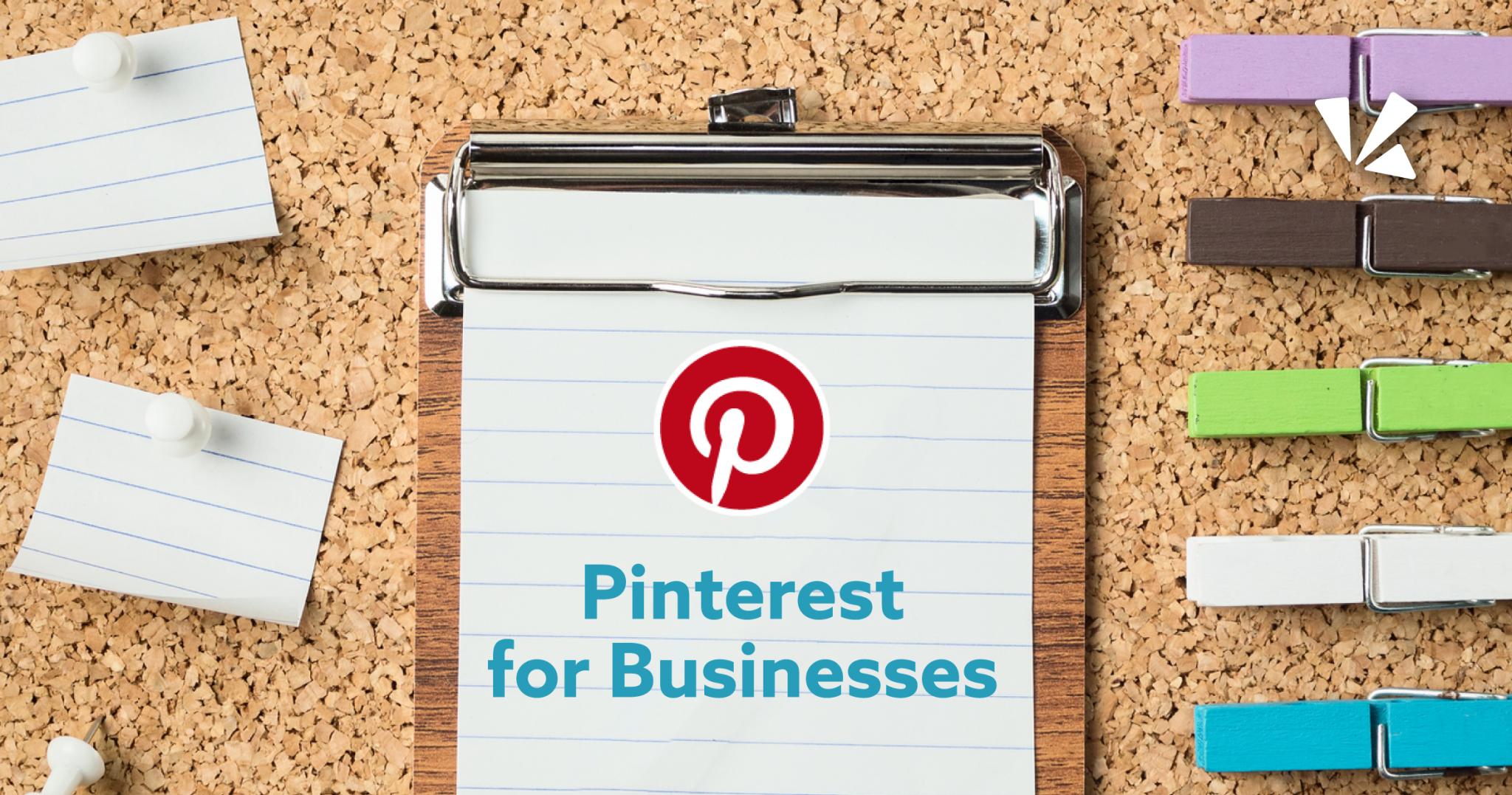 Pinterest for business blog header