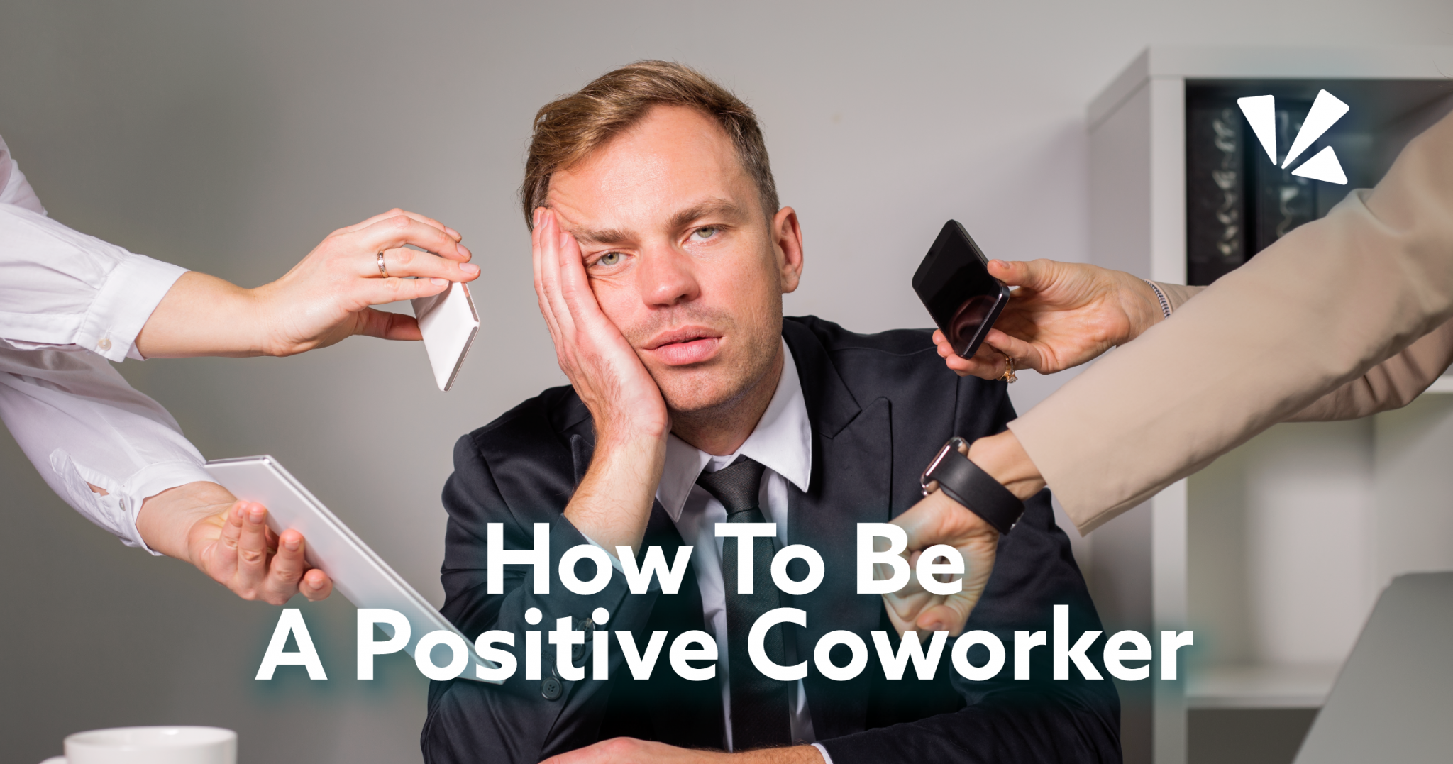 How to be a positive coworker blog header