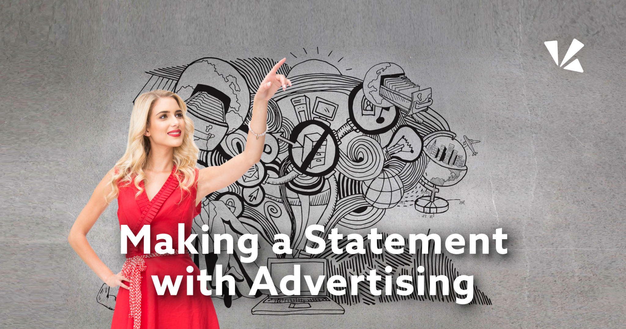 Making a statement with advertising blog header