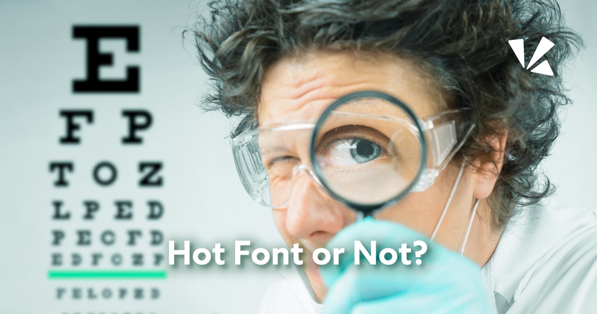 Hot font or not blog header
