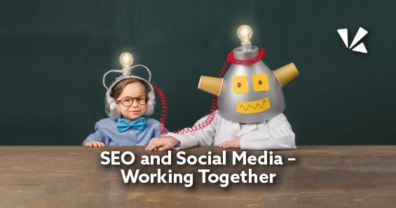 SEO and social media working together blog header