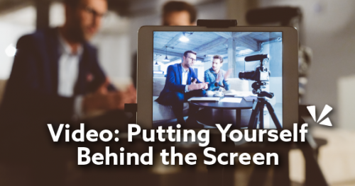 Putting yourself behind the screen blog header