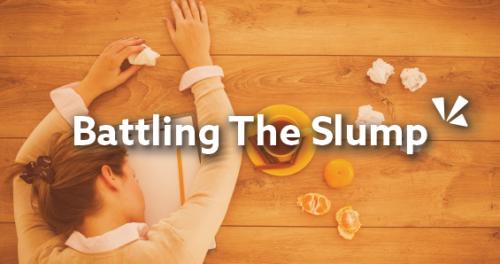 Battling the slump blog header