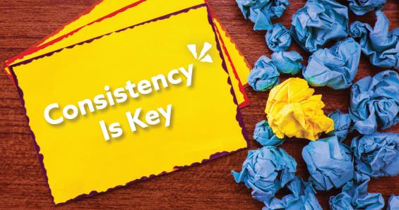 Consistency is key blog header