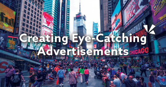 Creating eye-catching advertisements blog header