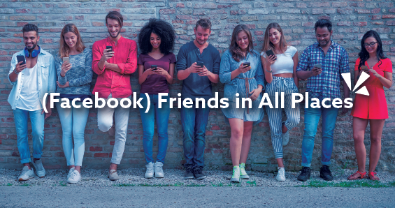 Facebook friends in all places blog header