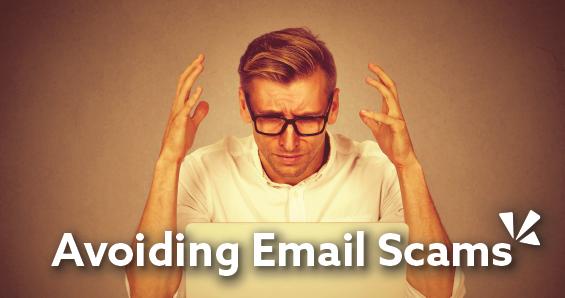 avoiding email scams blog header