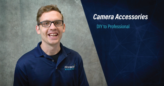 Camera accessories image with photo of videographer John Stewart