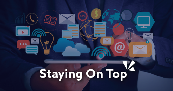Staying on top blog header