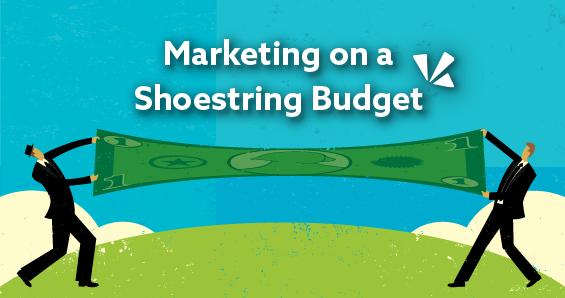 Marketing on a shoestring budget blog header