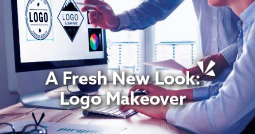 A fresh new look: Logo makeover blog header