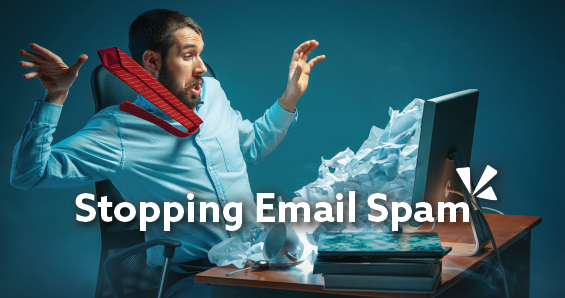 Stopping email spam blog header