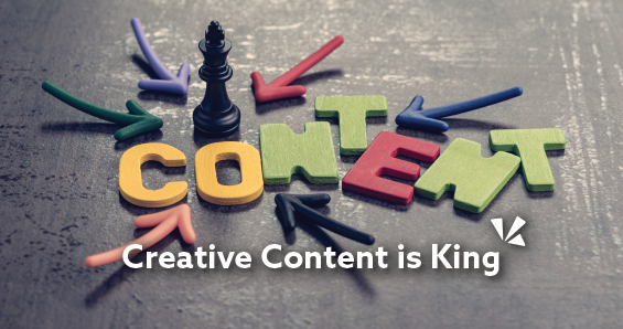 Creative content is king blog header