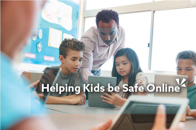 Helping kids be safe online blog header