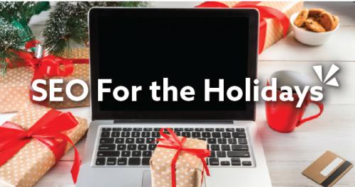 SEO for the holidays blog header