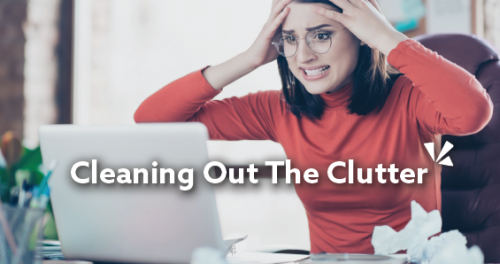 Cleaning out the clutter blog description