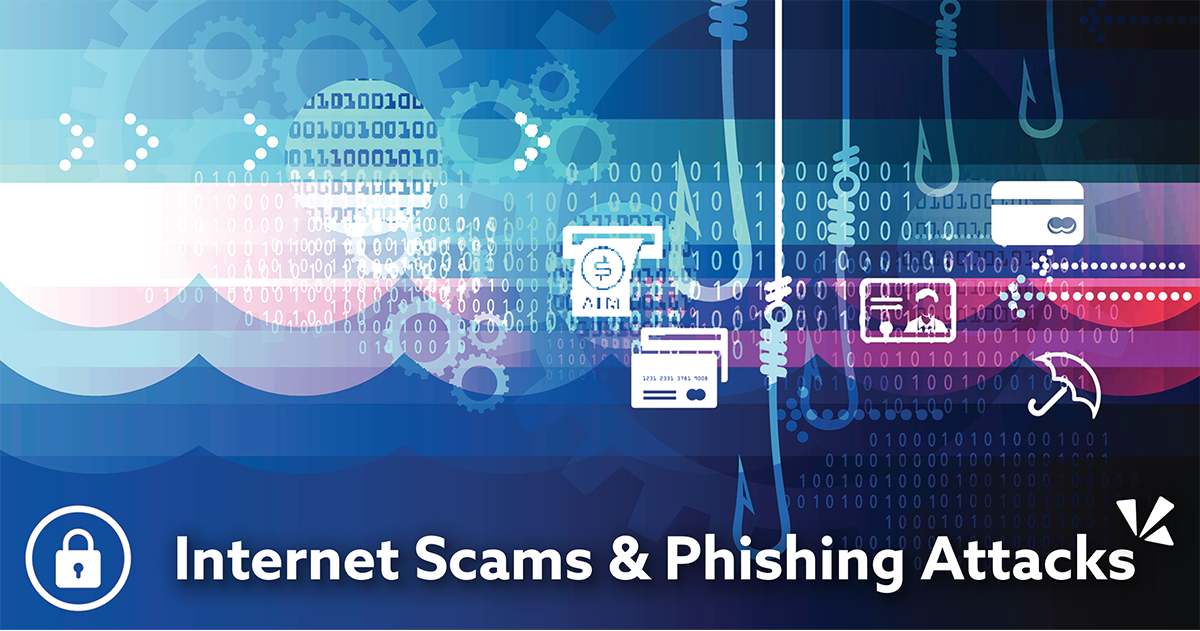Internet scams and phishing attacks blog description