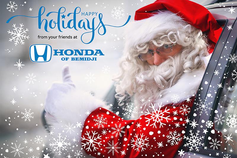 Honda of Bemidji happy holidays Facebook post