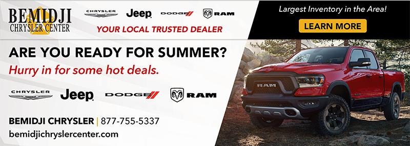Bemidji Chrysler Center summer deals online banner