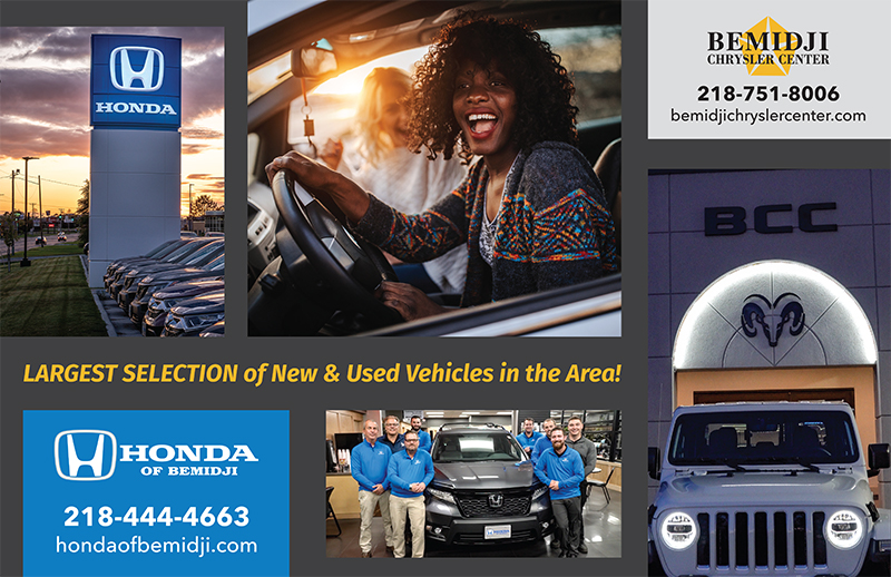 Bemidji Chrysler Center and Honda of Bemidji collage advertisement