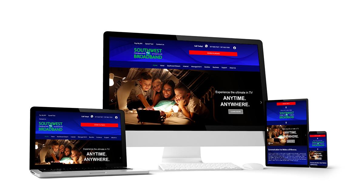 responsive website design sample