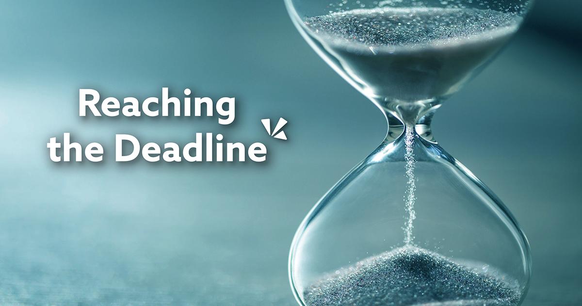 Reaching the deadline blog description