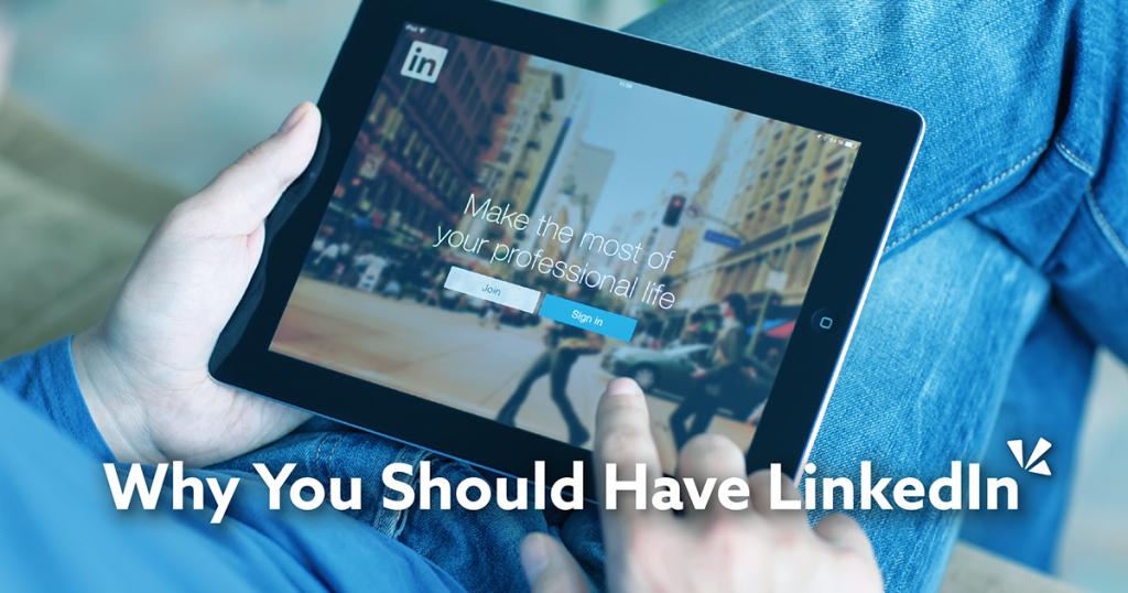 Why you should have LinkedIn blog description with image of a man on LinkedIn