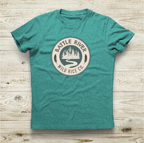 Battle River Wild Rice green t-shirt design