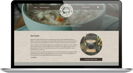 Battle River Wild Rice website home page