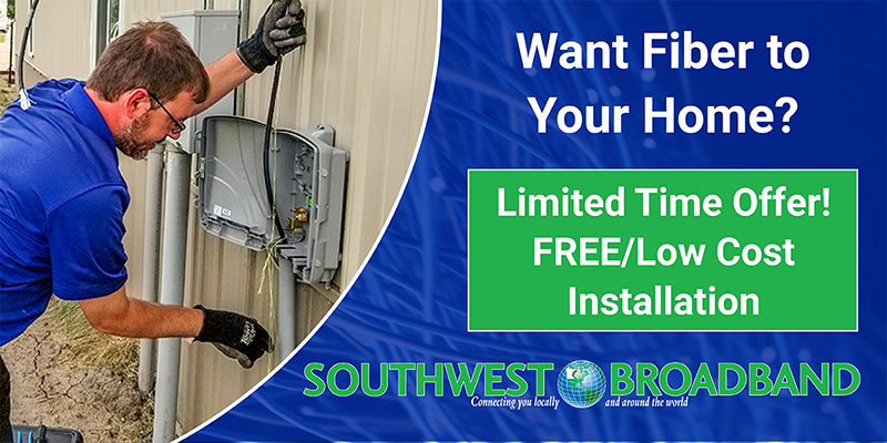 Southwest Broadband limited time offer advertisement