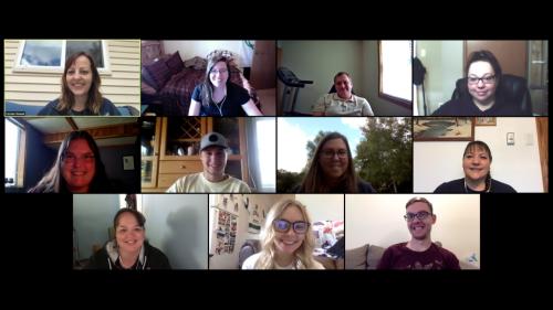 Zoom call photograph of Pinnacle Marketing Group digital team
